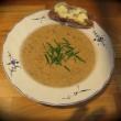 Samettinen suppissoppa ruisleivän kera